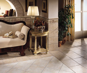 An American Olean Pantheon Tile Floor